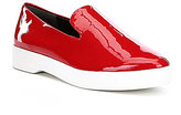 Donna Karan Pia Patent Leather Casual Slip-Ons