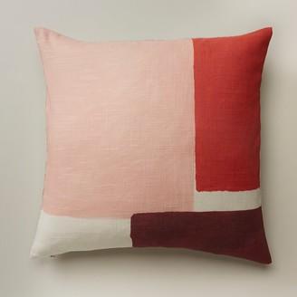 "Oui Chromatic Squares Citrus Pillow Cover 18"" X 18"""