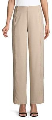 Halston H Eyelash-Trimmed Wide-Leg Pants