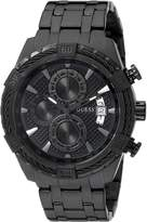 GUESS GUESS? Men's U0522G2 Stainless Steel Black Ionic Plated Chronograph Watch with Date Function