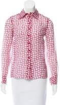 Louis Vuitton Printed Silk Top