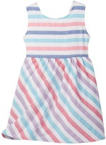Funkyberry Stripe Dress (Toddler & Little Girls)