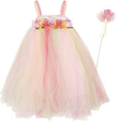 Dress Up Summer fairy dress & wand 3-5 years
