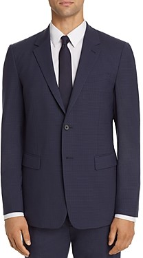 Theory Chambers Tonal Check Slim Fit Suit Jacket