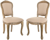 Safavieh Upholstered Burgess French-Leg Side Chair