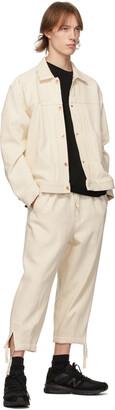 Kuro Off-White Denim Easy Trousers