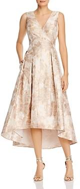 Eliza J Floral Jacquard Fit-and-Flare Dress