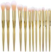 U-beauty® 12Pcs Golden Professional Makeup Brushes Set Tools Cosmetics Brush-Make-up Toiletry Kit-Face Powder Contour Highlighter Liquid Foundation Concealer Eye Shadow Eyebrow Brush