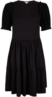 Under Armour Woven Sleeve Smock Dress with LENZING ECOVERO Black