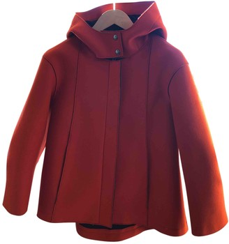Jil Sander Orange Wool Coats