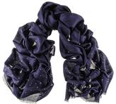 Black Navy Swarovski Crystal Scattered Wrap in Cashmere and Silk