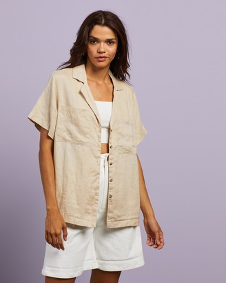 Cools Club - Women's Neutrals Shirts & Blouses - Safari Shirt - Size 8 at The Iconic