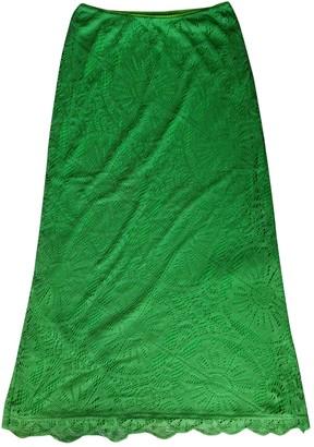 Vivienne Tam Green Cotton - elasthane Skirt for Women