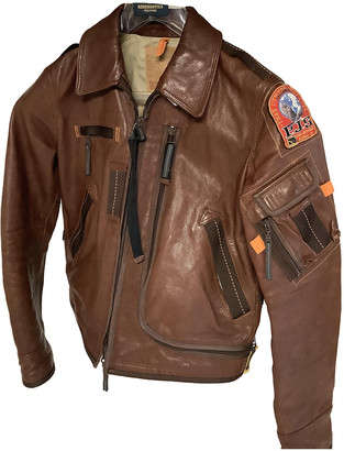 Parajumpers Brown Leather Leather jackets