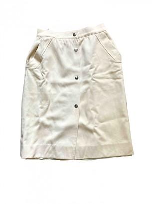 Ted Lapidus White Wool Skirt for Women