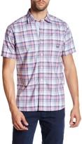 Psycho Bunny Plaid Short Sleeve Trim Fit Shirt