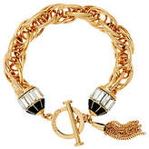 C. Wonder Triple Rolo Link Bracelet with Crystal Toggle Station