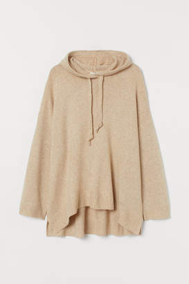 H&M H&M+ Knit Hooded Sweater - Beige