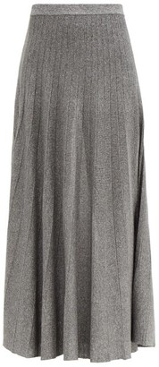 Joseph Ribbed Lame Knitted Skirt - Dark Grey