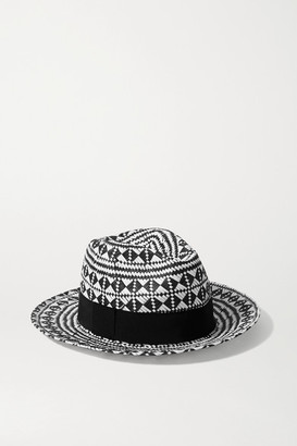 Eres Jones Grosgrain-trimmed Paper Fedora - Black