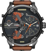 Diesel Dz7332 mr daddy stainless steel and leather watch