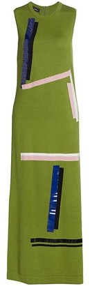 Akris Sleeveless Sheath Knit Midi Dress