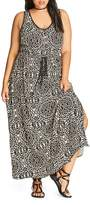 City Chic Summer Party Printed Maxi Dress