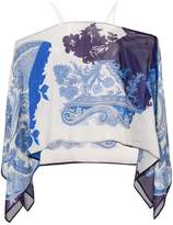 Etro off-the-shoulder printed blouse