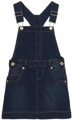 bluezoo - Girls' Blue Denim Dungaree Dress
