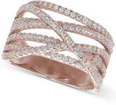 Giani Bernini Cubic Zirconia Crossover Ring in 18k Rose Gold-Plated Sterling Silver, Only at Macy's
