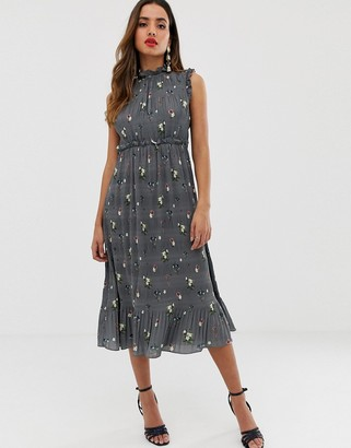 Ted Baker Toppaz oracle pleated midi dress