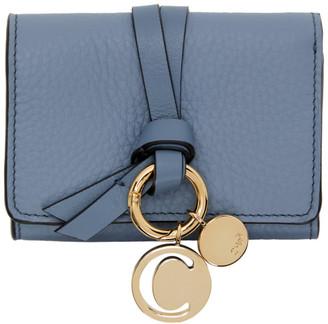 Chloé Blue Trifold Alphabet Wallet