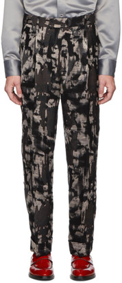 Paul Smith Black Mixed Print Oversized Trousers