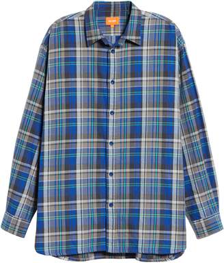 Beams Check Flannel Long Sleeve Button-Up Shirt