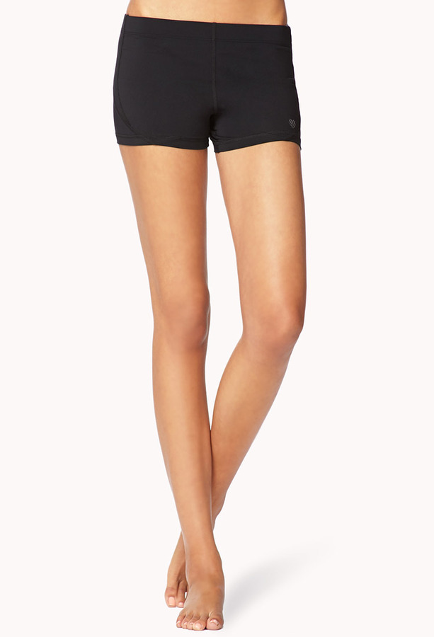 Forever 21 Mesh Paneled Run Shorts