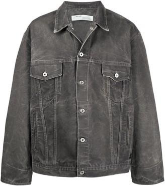 Off-White Crumpled-Effect Denim Jacket