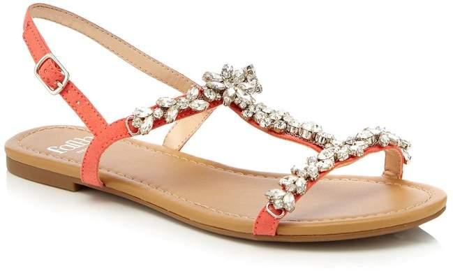 15b91d5924e Womens Wide Fit Flat Sandals - Pink