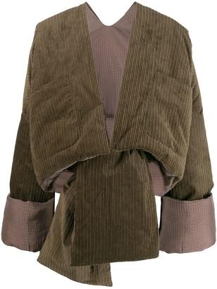 ASAI Corduroy Cropped Puffer Jacket
