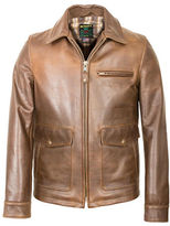 Schott NYC Burnished Leather Delivery Jacket