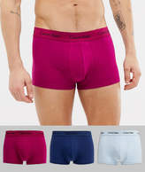 Calvin Klein 3 pack cotton stretch low rise trunks 3 Pack