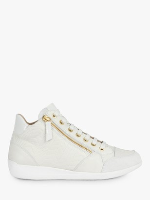 Geox Women's Myria Leather Lace Up Trainers