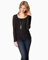 Charming charlie January Lace Sweater