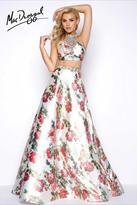 Mac Duggal Two Piece Prom Dress with Jeweled Neckline 66036M