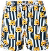 MC2 Saint Barth striped car print shorts - men - Polyamide/Polyester/Spandex/Elastane - XL
