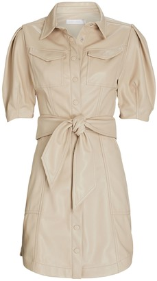 Jonathan Simkhai Novah Vegan Leather Mini Dress