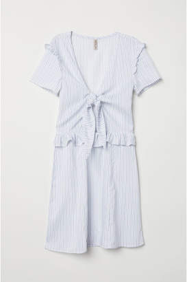 H&M Dress with Ties - White