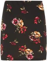 Dorothy Perkins Chestnut Floral Print Scuba Mini Skirt