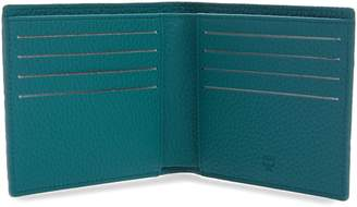 MCM Tivitat Monogram Embossed Leather Bifold Wallet