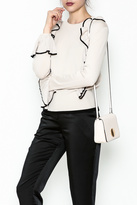 LOLA Cosmetics Ruffle Detail Sweatshirt