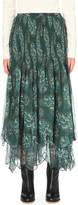 See by Chloe Paisley-print cotton-georgette skirt